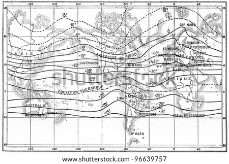 Isothermal Stock Images RoyaltyFree Images Vectors Shutterstock - Isothermal map of us