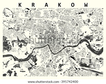Map Krakow Stock Illustration 395742400 Shutterstock