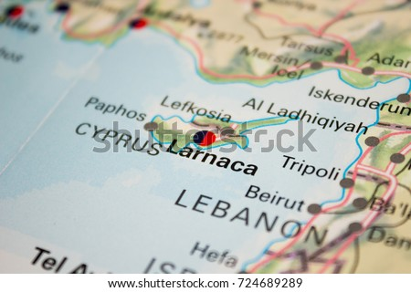 Map larnaca cyprus 2017 stock photo royalty free 724689289 map of larnaca cyprus 2017 gumiabroncs Image collections