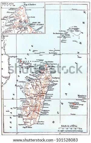 Map Madagascar Showing Northernmost Region Diana Stock Illustration ...