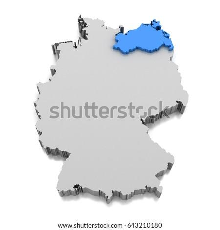 Map Mecklenburgvorpommern Stock Images RoyaltyFree Images