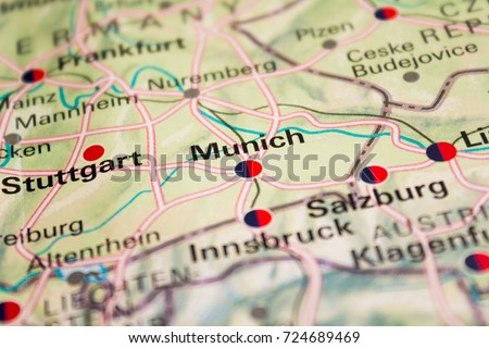 Map munich germany 2017 stock photo 724689469 shutterstock map of munich germany 2017 gumiabroncs Image collections