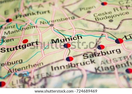 Map munich germany 2017 stock photo safe to use 724689469 map of munich germany 2017 gumiabroncs Choice Image