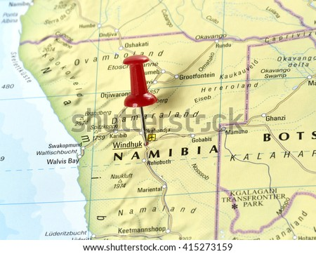 Map Namibia Windhoek Stock Photo Royalty Free 415273159 Shutterstock