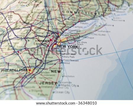 Map of New York - stock photo