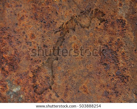 Map of Norway on rusty metal