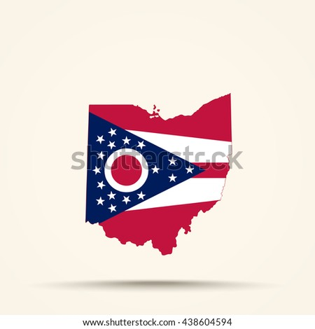 ohio flag vector logo vector stock vector 344636372 - shutterstock