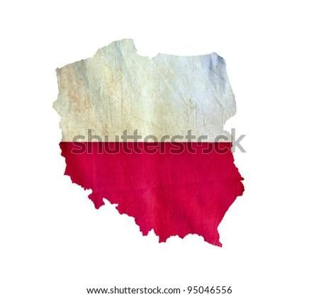 Map of Poland isolated - stock photo