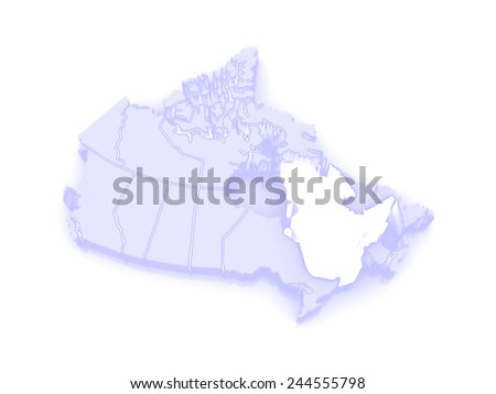 Map of Quebec. Canada. 3d - stock photo