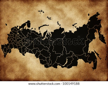 Map of Russia - stock photo