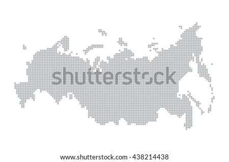 map of russia. illustration geography cartography, art - stock photo