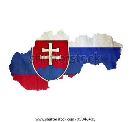 Map of Slovakia isolated - stock photo