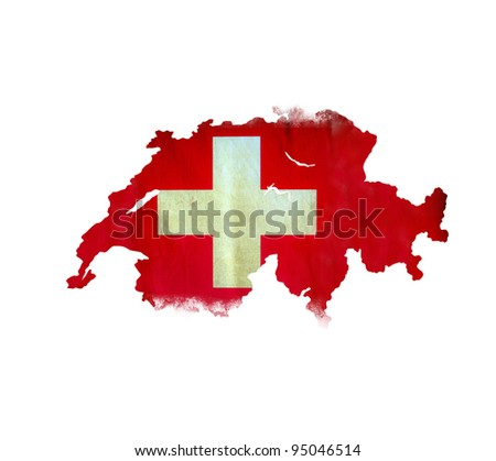 Map of Swiss isolated - stock photo