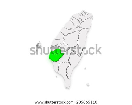 Map Tainan City Taiwan 3d Stock Illustration 205865110 Shutterstock