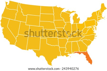 Florida In Us Map - Florida-in-us-map