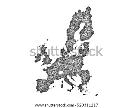 Map of the EU on poppy seeds