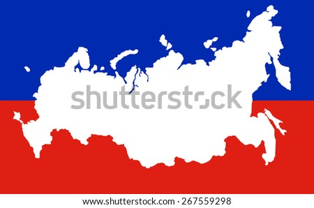 Map of the Russian Federation with the Crimea. background