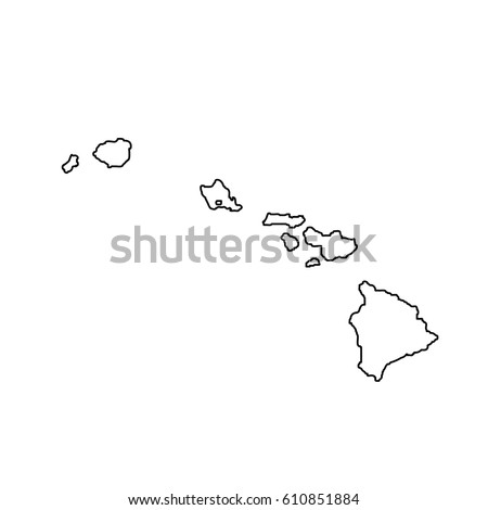 Map Of The U S State Hawaii