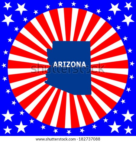 map of the U.S. state of Arizona