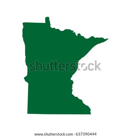 Minnesota Map Stock Images RoyaltyFree Images Vectors