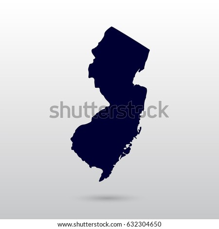 New Jersey Map Stock Images RoyaltyFree Images Vectors - New jersey on us map
