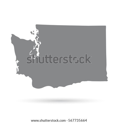 Map Us State Washington Stock Vector 561668530 Shutterstock