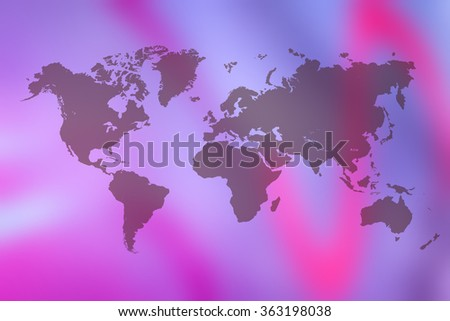 Map of the world - stock photo
