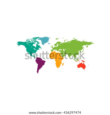 World map icon vector flat simple stock vector 2018 490559572 map of the world color simple flat icon on white background gumiabroncs Image collections