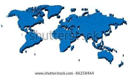 Map world national borders country names stock vector 54286459 map of the world with national borders and country names raster version vector version gumiabroncs Images