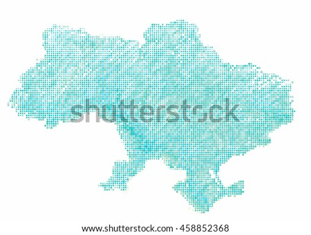map of Ukraine-style Halftone Offset Pattern