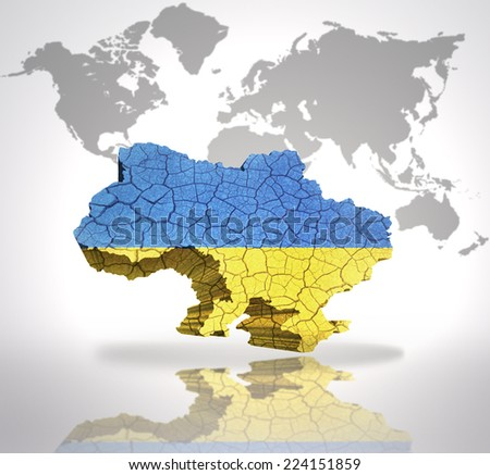 Map ukraine ukrainian flag on world stock illustration 224151859 map of ukraine with ukrainian flag on a world map background gumiabroncs Gallery