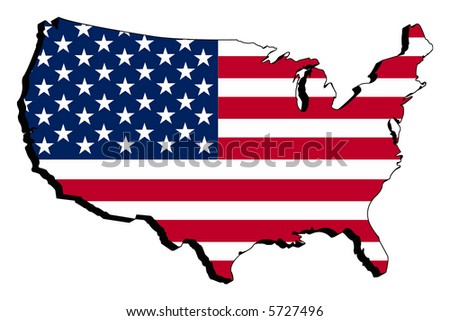 Map of USA as Flag