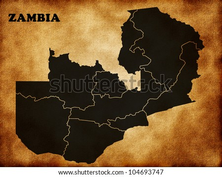 Map of Zambia country
