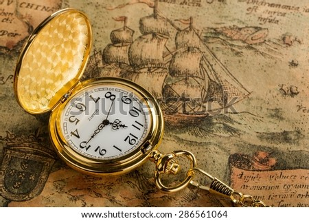 Map, Old, World Map. - stock photo