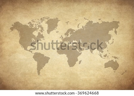 map on old paper  - stock photo
