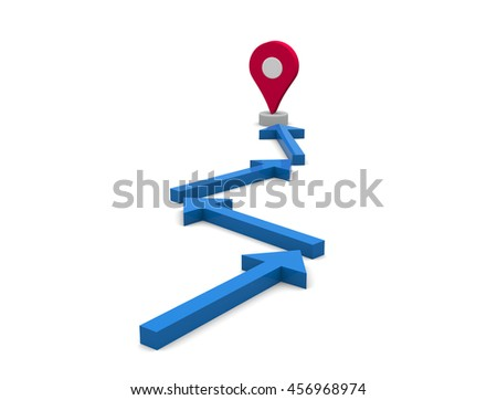 Map pointer icon.3D illustration