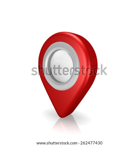 map pointer , on white background - stock photo