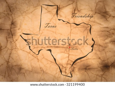 Old Texas Map Stock Images RoyaltyFree Images Vectors