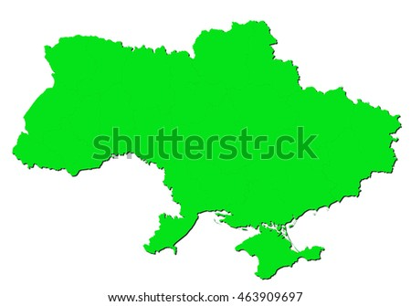 map-ukraine country on white background.