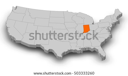 Indiana Map Stock Images RoyaltyFree Images Vectors Shutterstock - Us map indiana
