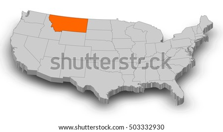 Montana Map Stock Images RoyaltyFree Images Vectors Shutterstock - Montana us map