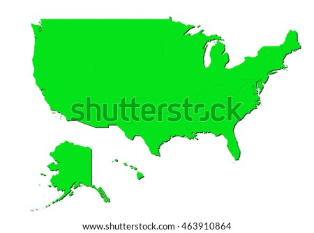 Map United States America Usa Four Stock Vector - Map ofunited states