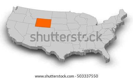 Wyoming Art Stock Photos RoyaltyFree Images Vectors Shutterstock - Wyoming us map