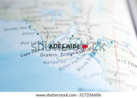 map view of adelaide australia