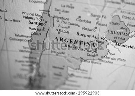 Map Of La Pampa Stock Images RoyaltyFree Images Vectors - Argentina globe map