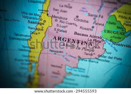 Argentina Map Stock Images RoyaltyFree Images Vectors - Argentina globe map