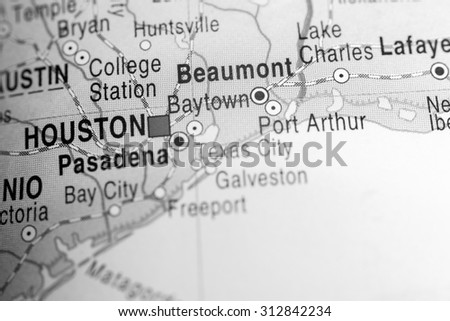 Map view of Beaumont - stock photo