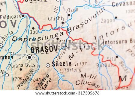 Map View Brasov Romania Stock Photo 317305676 Shutterstock