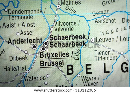 Map View Brussels Vignette Stock Photo 313112306 Shutterstock