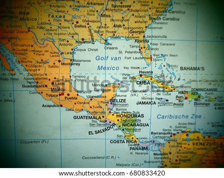 Map view central america countries on stock photo image royalty map view of central america countries on a world map gumiabroncs Image collections